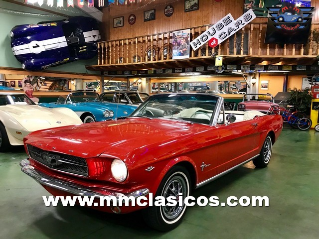 Coche Clásico Americano Ford Mustang 289 Pony Car 1965 Red